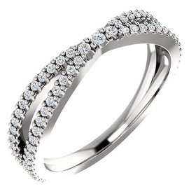 Contour diamond wedding band 0.33 carat