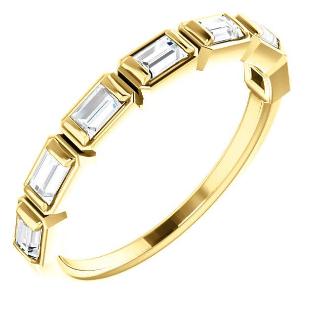 Stuller Bezel Set Baguette Diamond Band 0.50 carat total