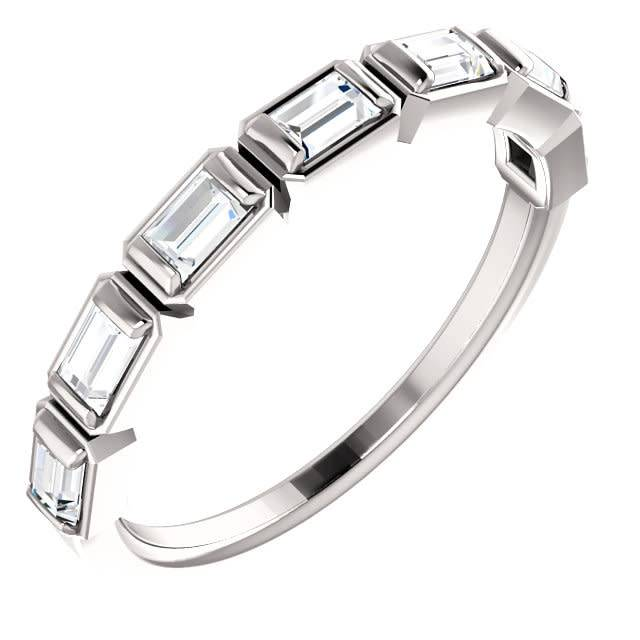 Bezel Set Baguette Diamond Band 0.50 carat total