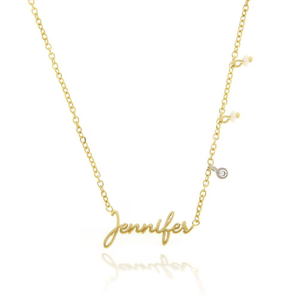 Gold Script Name Necklace Freedman Jewelers