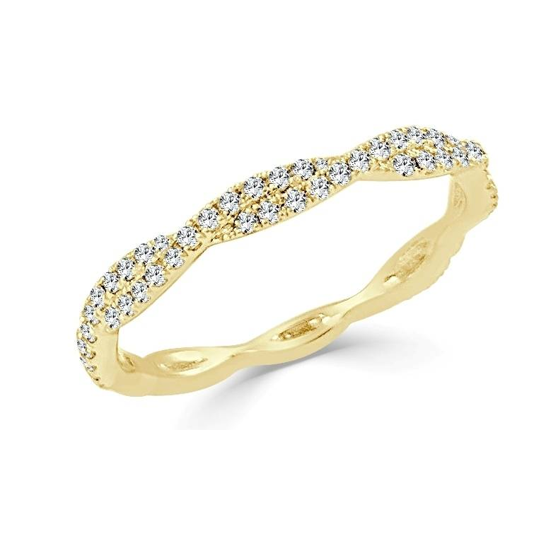 Sabrina CR3234 twisted band 0.28 ct tw