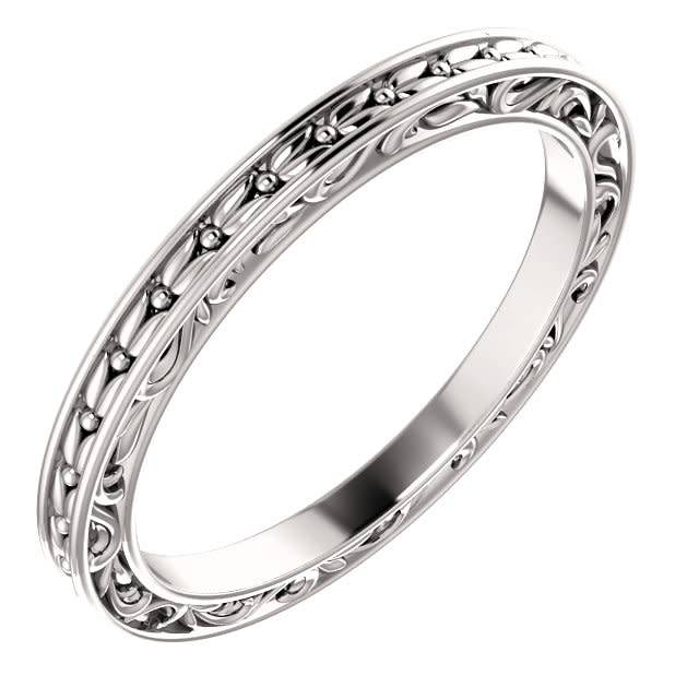 51881 Leaf Sculptured Band