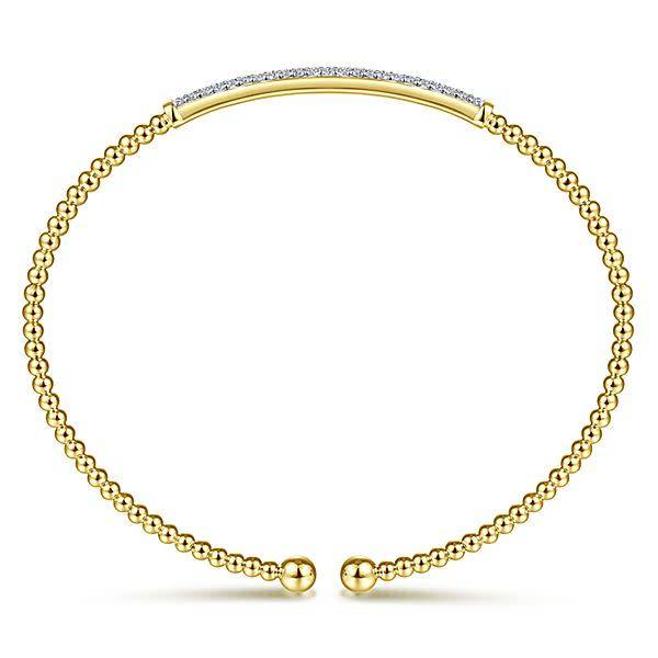 Gabriel & Co BG4262 Yellow Gold Diamond Bangle