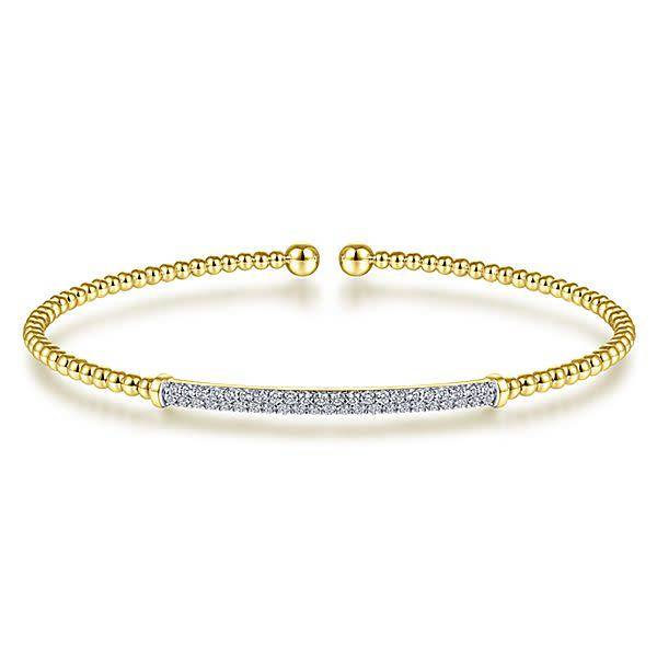 Bg4262 Yellow Gold Diamond Bangle
