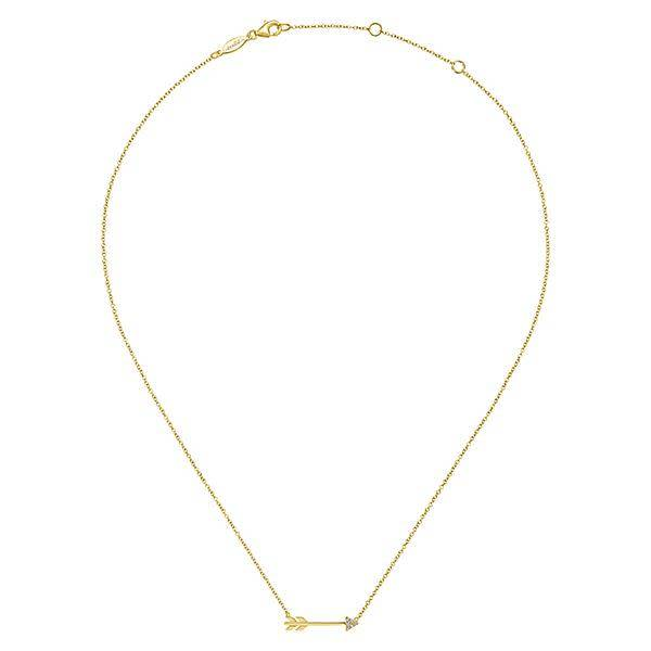 Gabriel & Co 14kt Gold Diamond Arrow Necklace