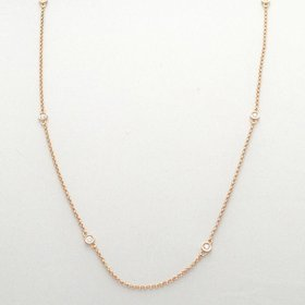 Bezel Station Diamond Necklace