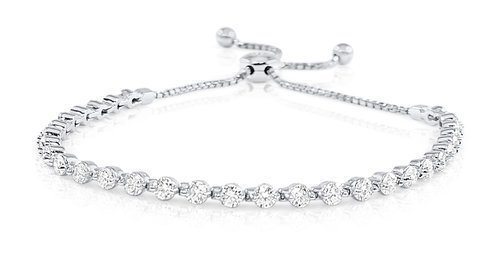 Sabrina B2040 Prong Set Diamond Bolo Bracelet