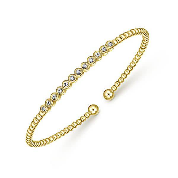 Gabriel & Co BG4118 pave diamond bangle bracelet