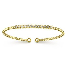 BG4118 pave diamond bangle bracelet