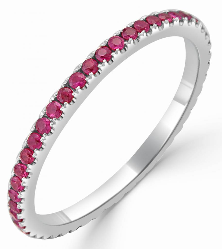 Sabrina 18kt Gold Ruby Eternity Band