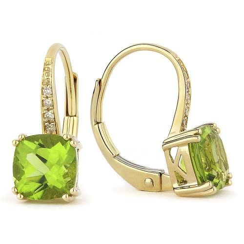 Madison L Peridot & Diamond Drop Earrings