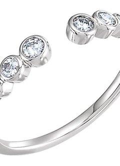 Negative Space Diamond Bezel Ring