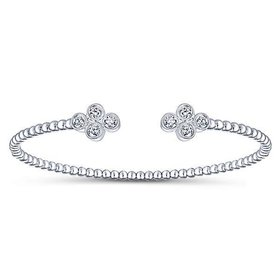 BG4124 Bezel Diamond Bangle