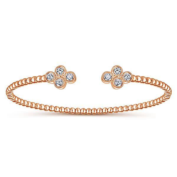 Gabriel & Co BG4124 Bezel Diamond Bangle