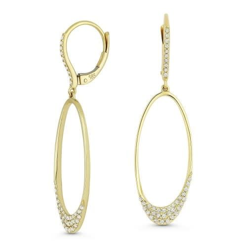 Madison L E1164W White Gold and Diamond Drop Earrings