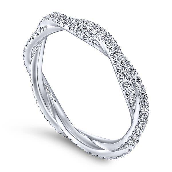 Gabriel & Co LR51840 twisted diamond eternity band