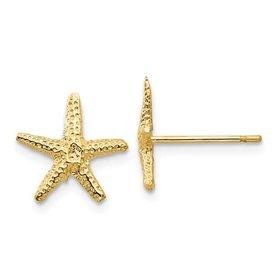 14kt Yellow Gold Starfish Earrings