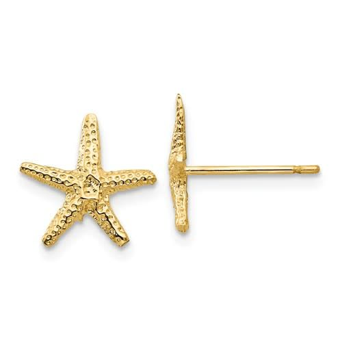 Q Gold 14kt Yellow Gold Starfish Earrings