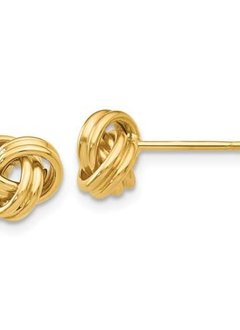 14kt Love Knot Post Earrings