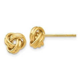 14kt Love Knot Post Earrings
