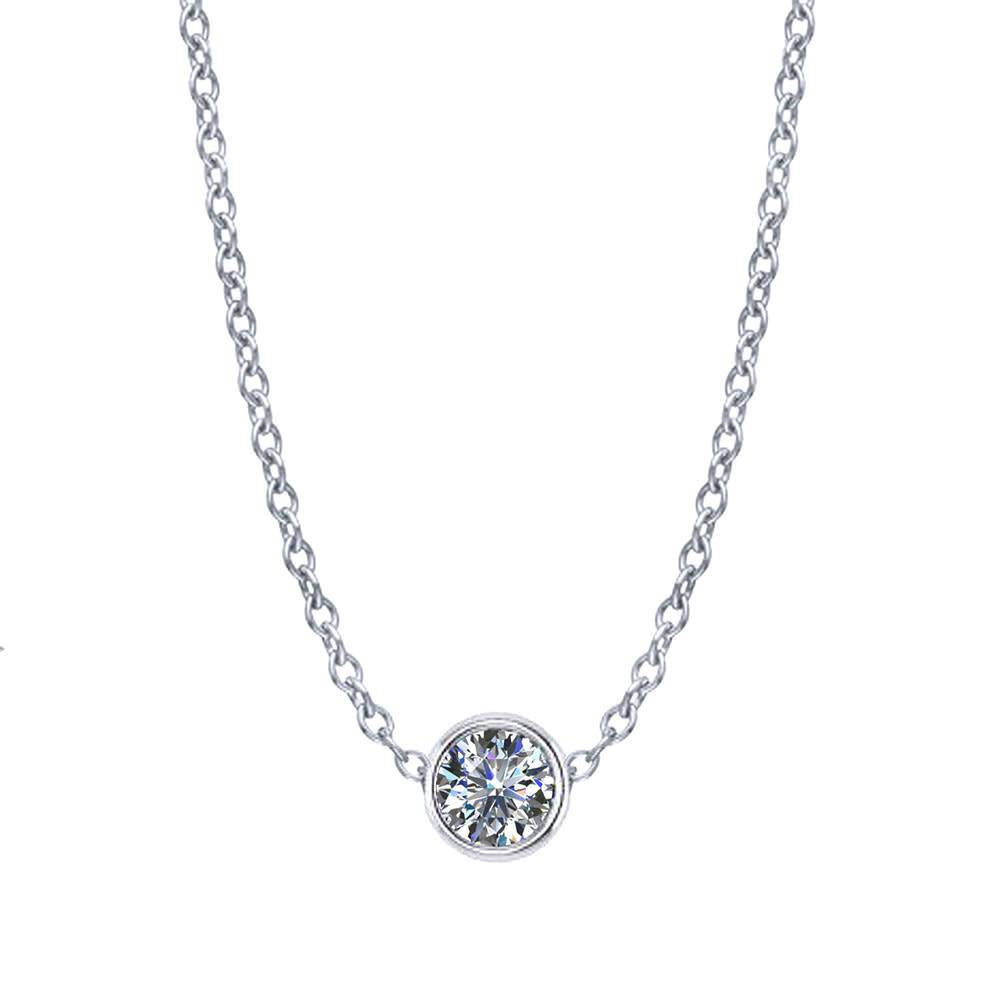 Diamond Bezel Necklace 1/4 Carat
