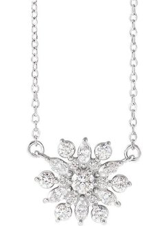 86948 Vintage Style  1/2 Carat Diamond Pendant Necklace