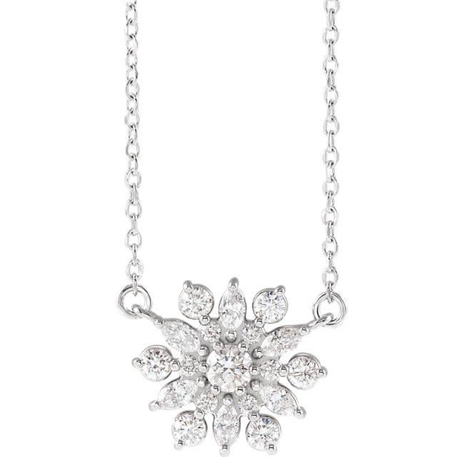 Stuller 86948 Vintage Style  1/2 Carat Diamond Pendant Necklace