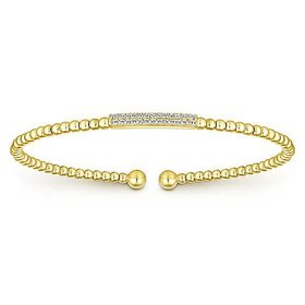 BG4119 14kt yellow gold diamond bangle