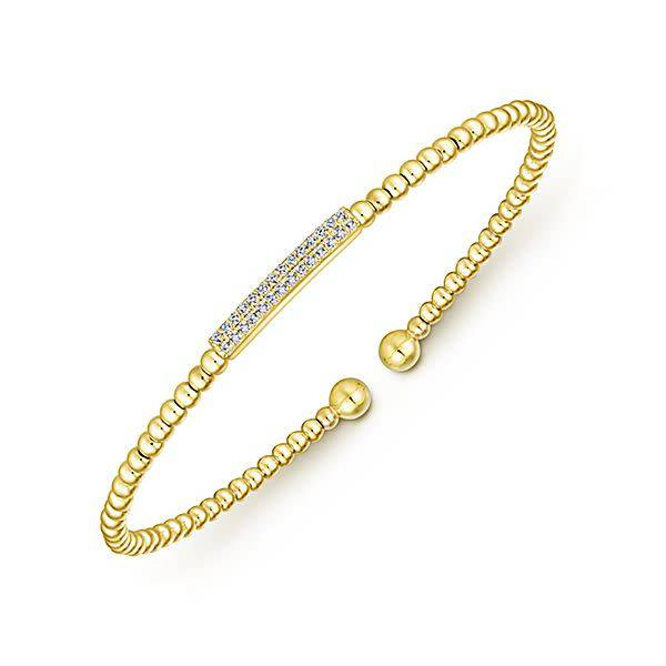 Gabriel & Co BG4119 14kt yellow gold diamond bangle