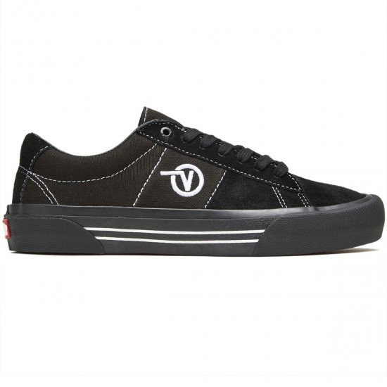 Vans Saddle Sid Pro Shoe - Black/Black/White