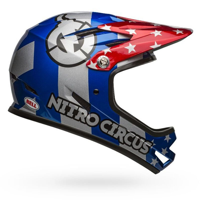Bell Sanction Helmet - Nitro Circus Gloss Silver/Blue/Red