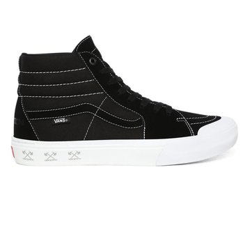 Vans SK8 Hi Pro BMX Shoe - (Demolition) Black/White