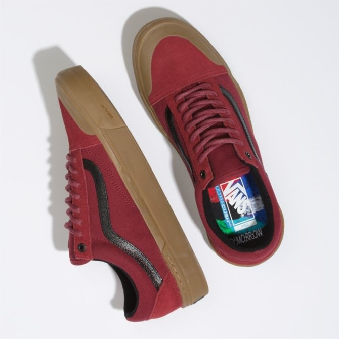Vans Old Skool Pro BMX Shoe - (Ty Morrow) Biking Red/Gum