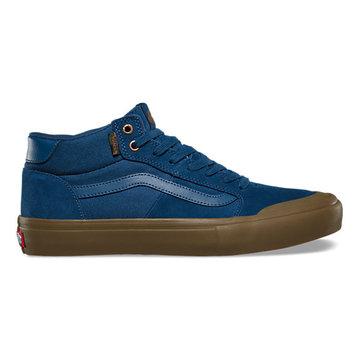 Vans Style 112 Mid Pro Shoe - (Camo) Dark Denim/Gum