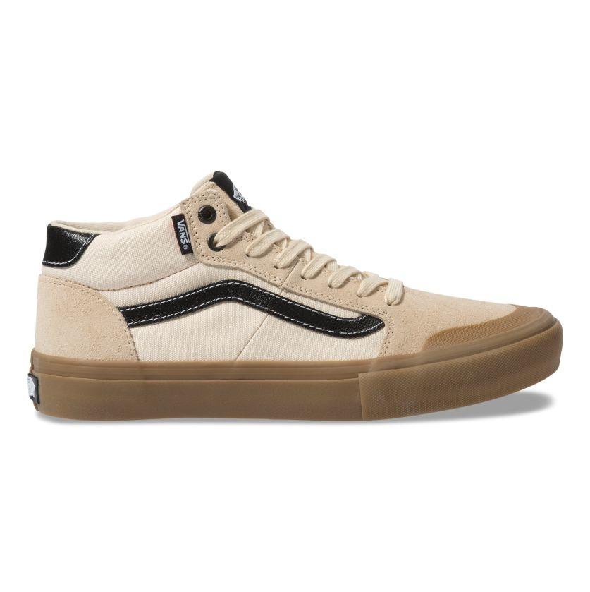 Vans Style 112 Mid Pro Shoe - (Ty Morrow) Macadamia/Gum