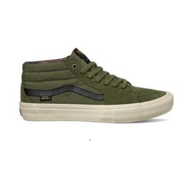 Vans SK8-Mid Pro Shoe - (Camo) Winter Moss