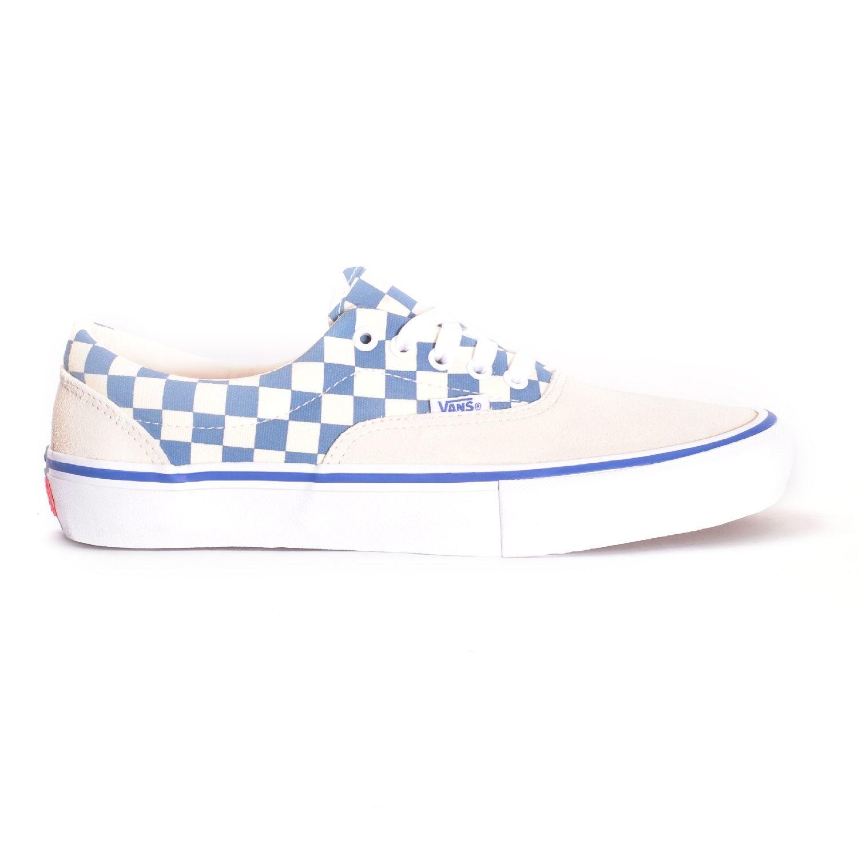 Vans Era Pro Shoe - (Checker) Classic White/Blue Ashes