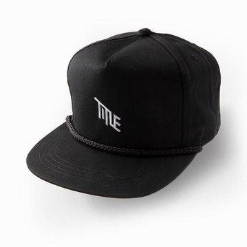 Title Poplin Golf Snap Back Hat