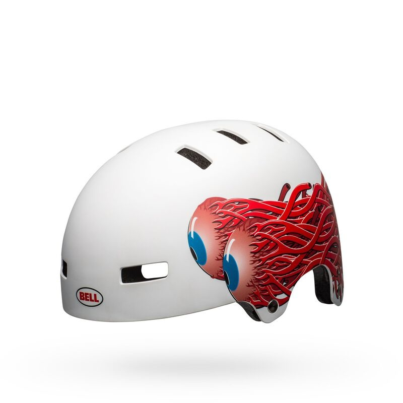Bell Span Youth Helmet - Matte White Eyes