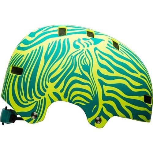 Bell Span Youth Helmet - Matte Emerald/Retina Sear Zebra