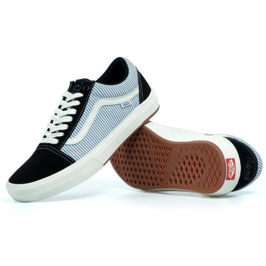 Vans BMX Old Skool Shoe - (Federal) Black/Blue Pinstripe