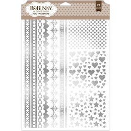 Bo Bunny Accents Silver Foil Rubons