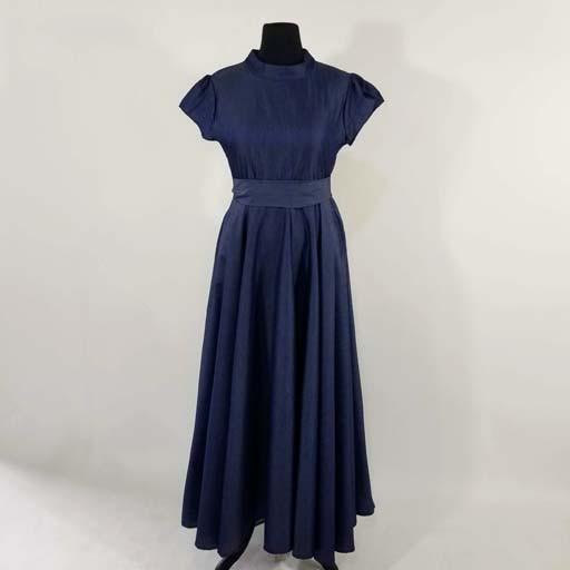 1c35ef7089e Cuf Sleeve Long Denim Dress - Fashion Tree