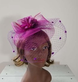 Something Special Mesh Fascinator w Feather and Flower Center 8e0c2468a65