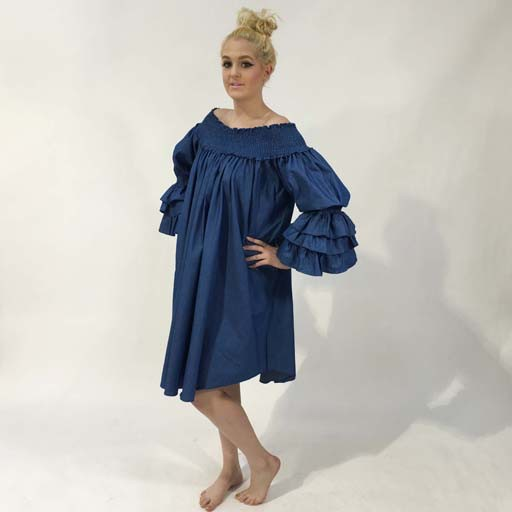 b375bf8e71c19e Fashion Terminal Off the Shoulder Flaired Tunic with Long Layered ...