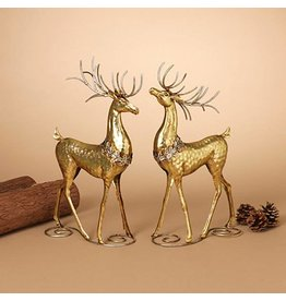 "16""H Gold Metal Deer Figurine, 2 Asst--choice of one"