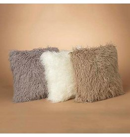 "18"" Faux Fur Pillow, 3 Asst--choice of one"
