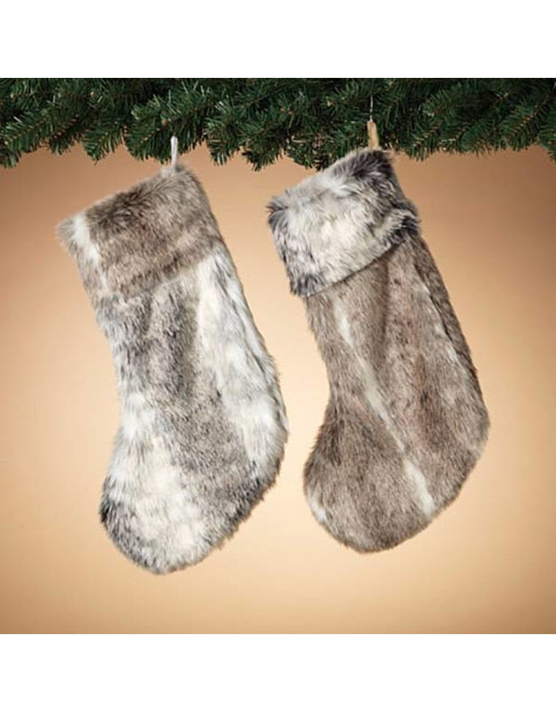"""19"""" Faux Fur Stocking, 2 Asst--choice of one"""