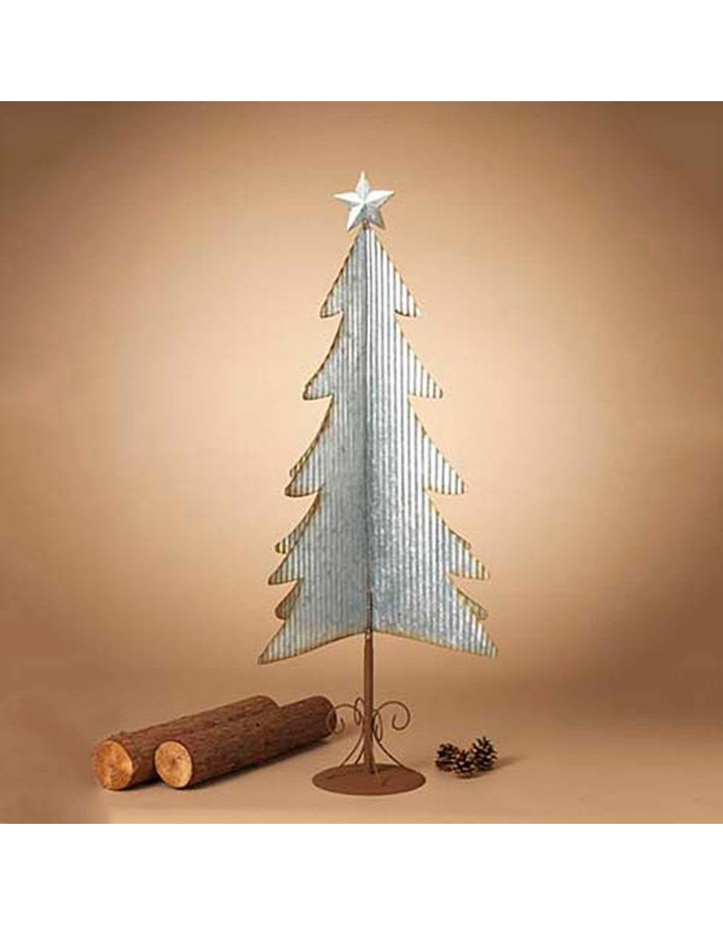 "27.75""H Galvanized Corrugated Tree"