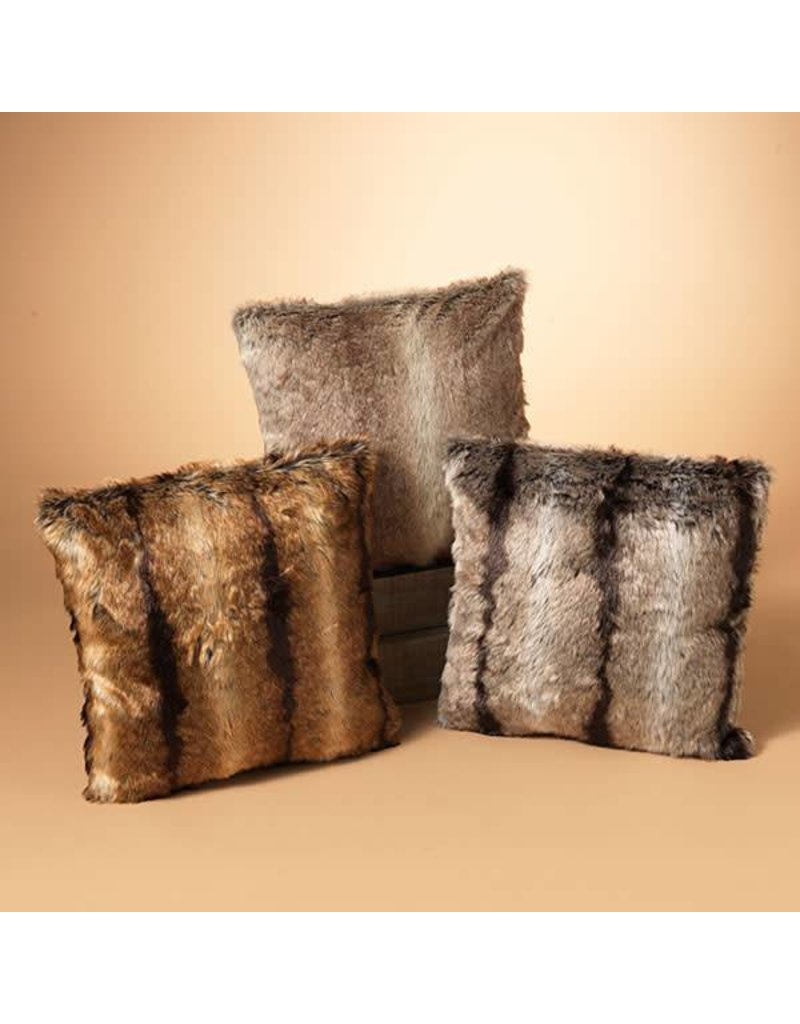 "17.7"" Faux Fur Pillow, 3 Asst--choice of one"